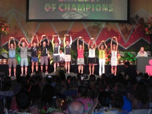 Gruppenbild Siegerehrung Ironman Hawaii 2016